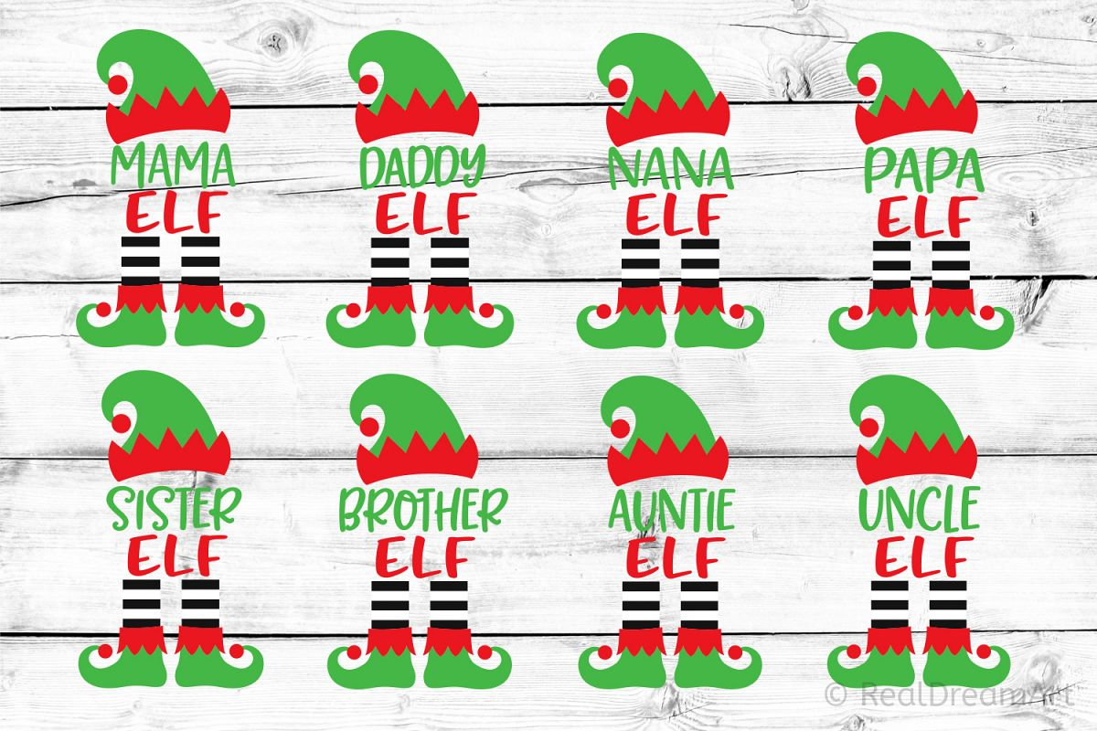 Elf Family Bundle SVG, DXF, PNG, EPS example image 1