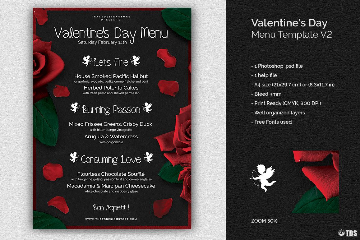 valentines day menu template v2