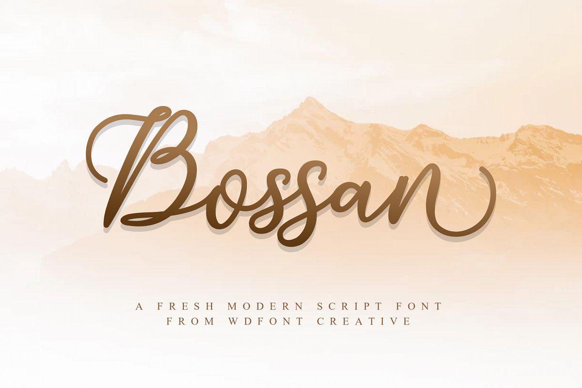 Bossan | A Fresh Modern Script example image 1