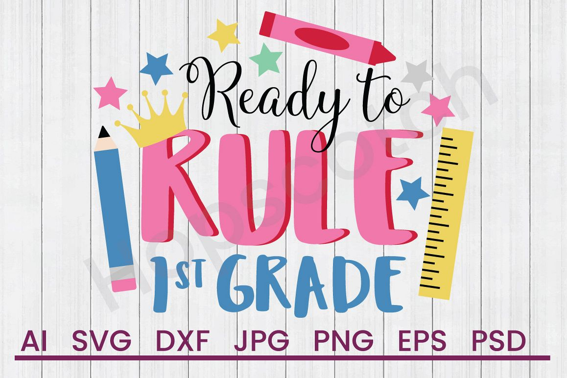 Supplies SVG, Ready to Rule SVG, DXF File, Cuttatable File example image 1