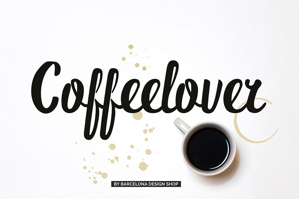 Coffeelover Font example image 1
