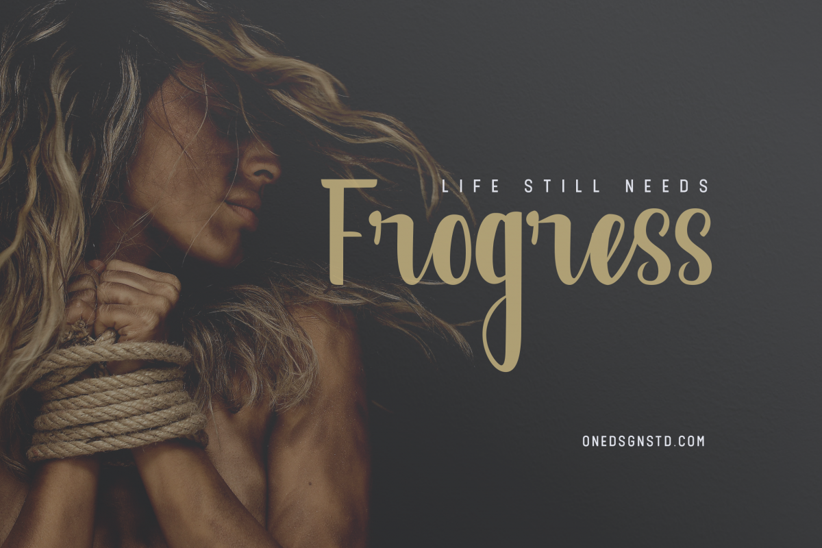Frogress Calligraphy Script Fonts example image 1