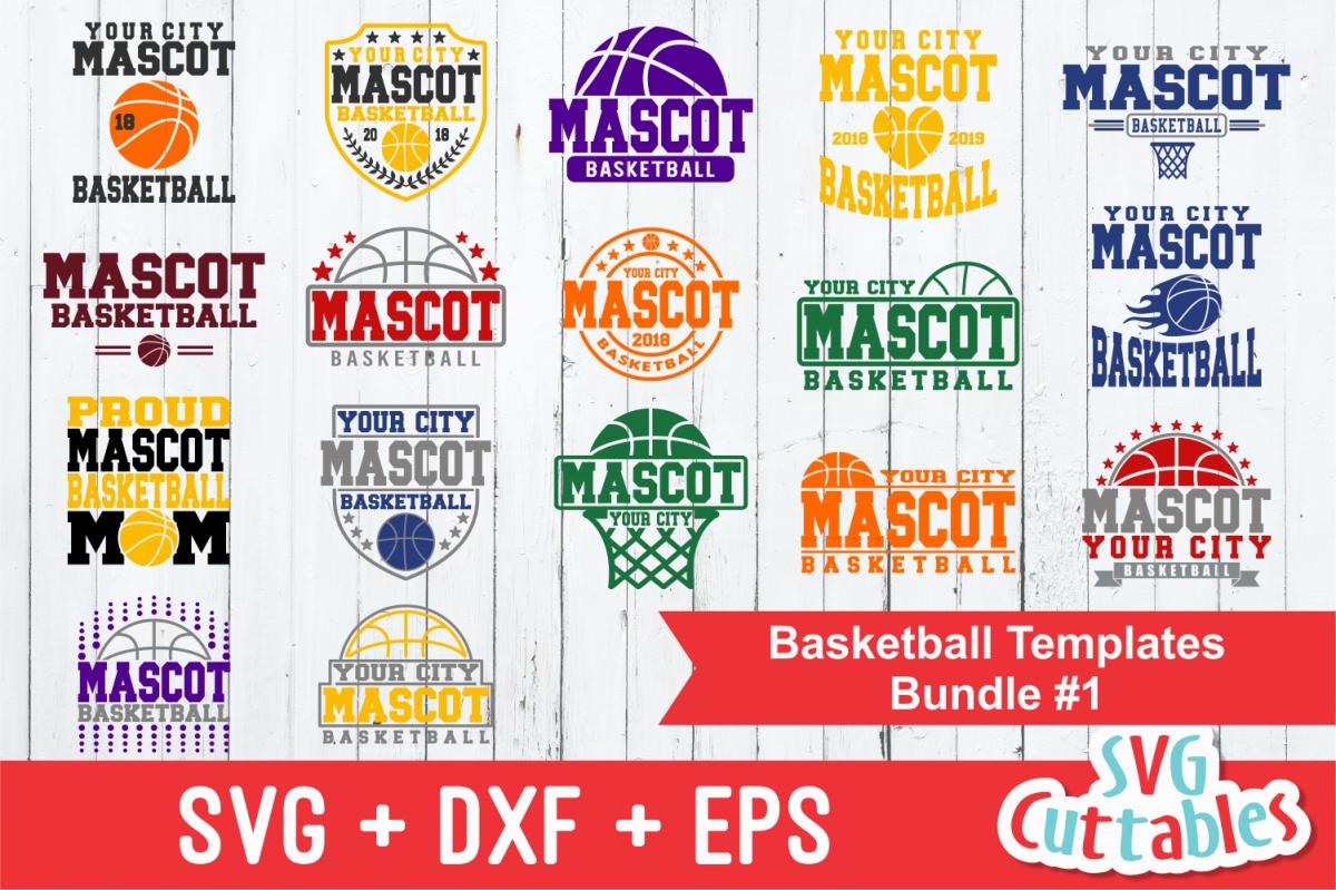 Basketball Bundle #1, svg cut files example image 1