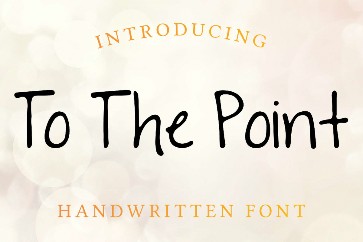 To The Point Hand Lettered Sans Serif Font example image 1