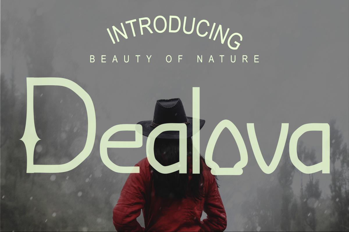 Dealova Regular Font example image 1