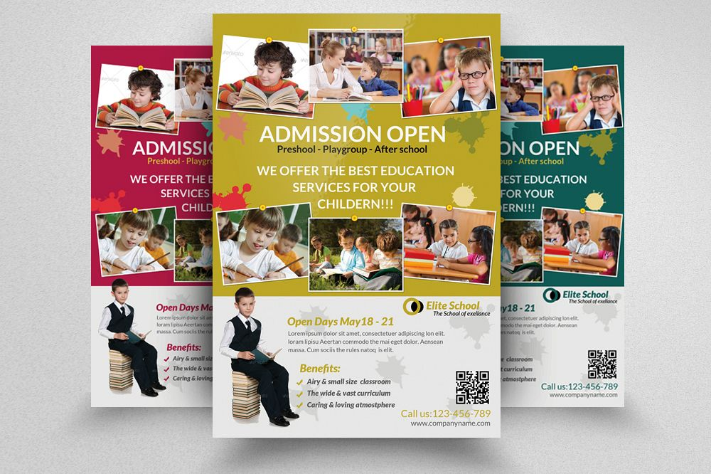 Kids School Admission Open Flyer Template