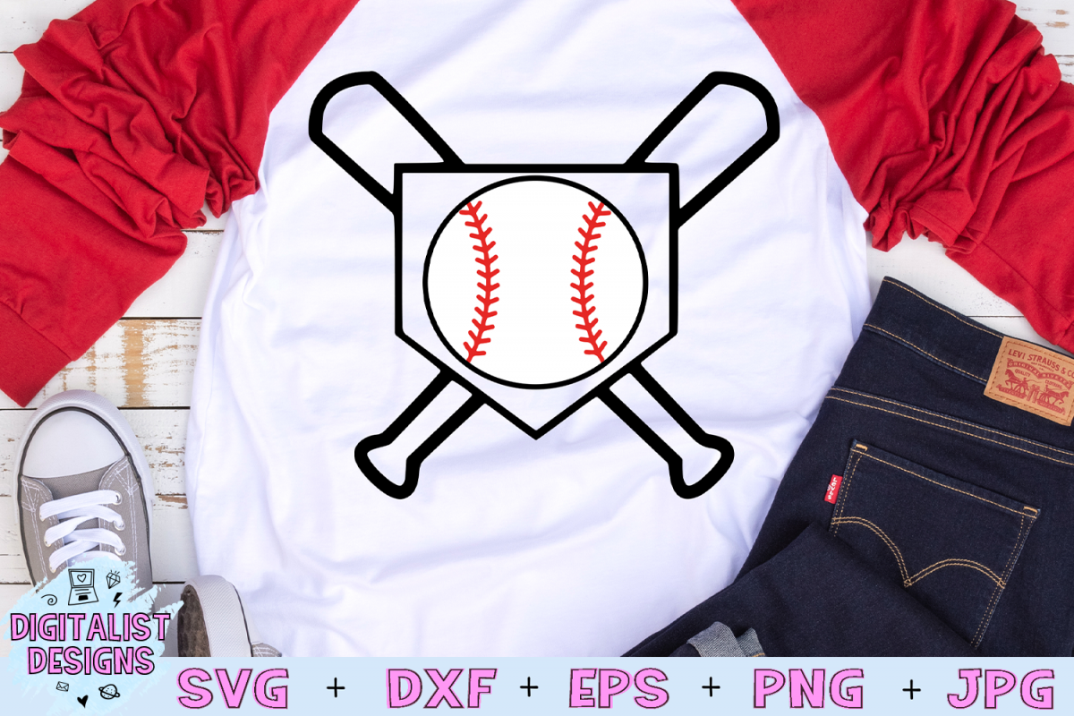 Baseball Bat SVG, Baseball SVG, Baseball Diamond SVG example image 1