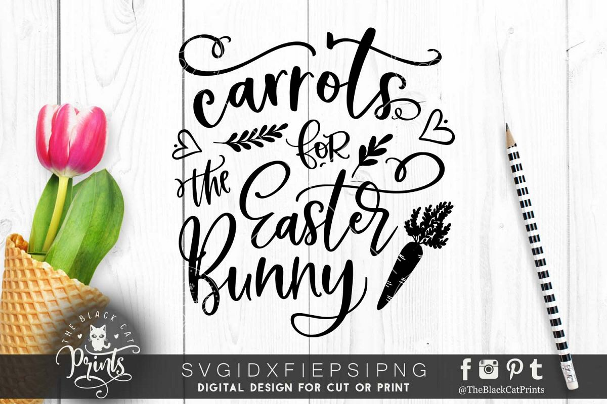 Carrots for the Easter Bunny SVG DXF EPS PNG example image 1