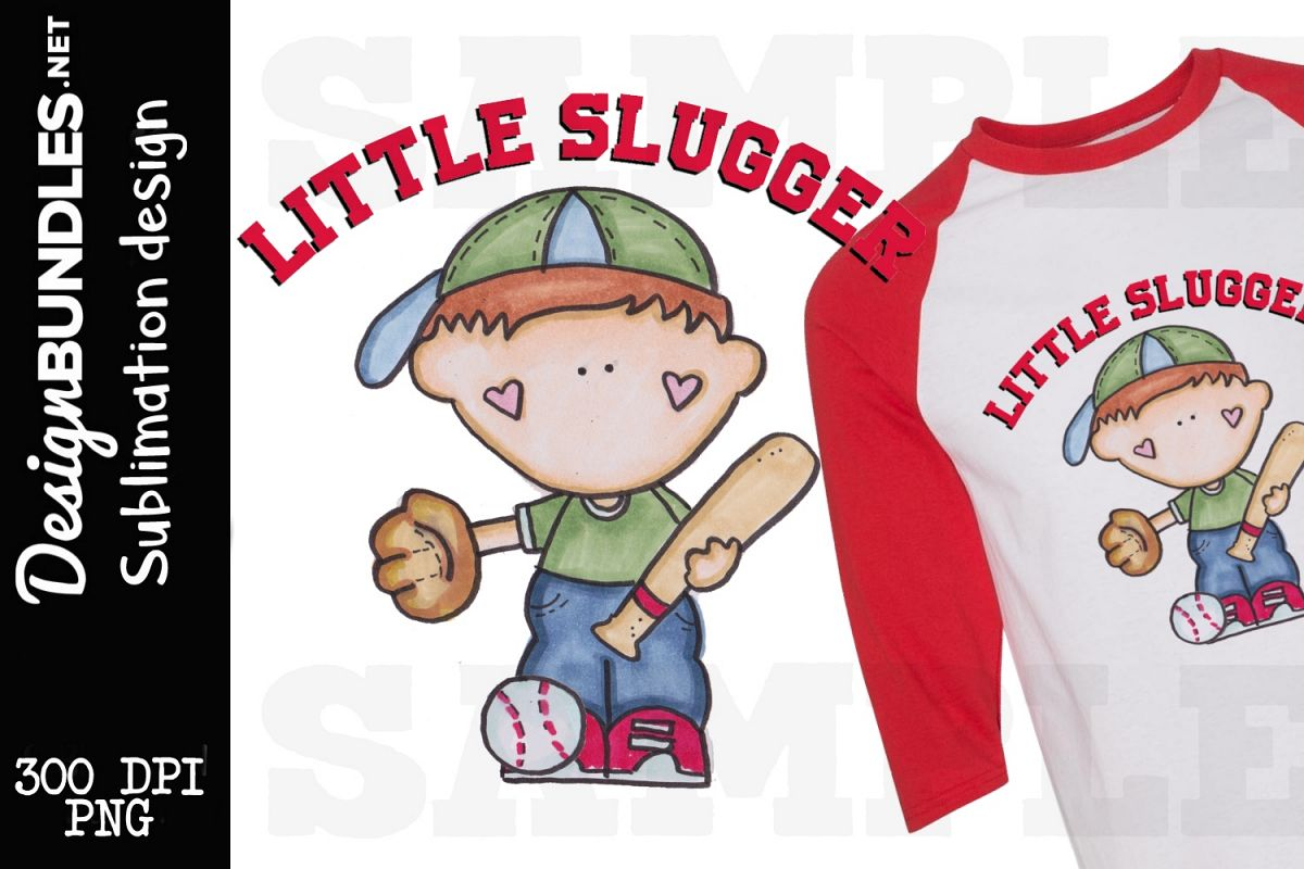 Little Slugger Sublimation Design example image 1