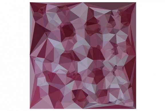 Cornell Red Abstract Low Polygon Background example image 1