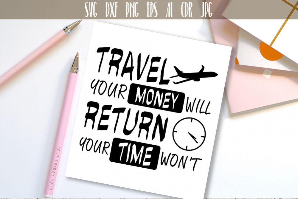 Travel SVG Adventure Quote Vector Typography example image 1