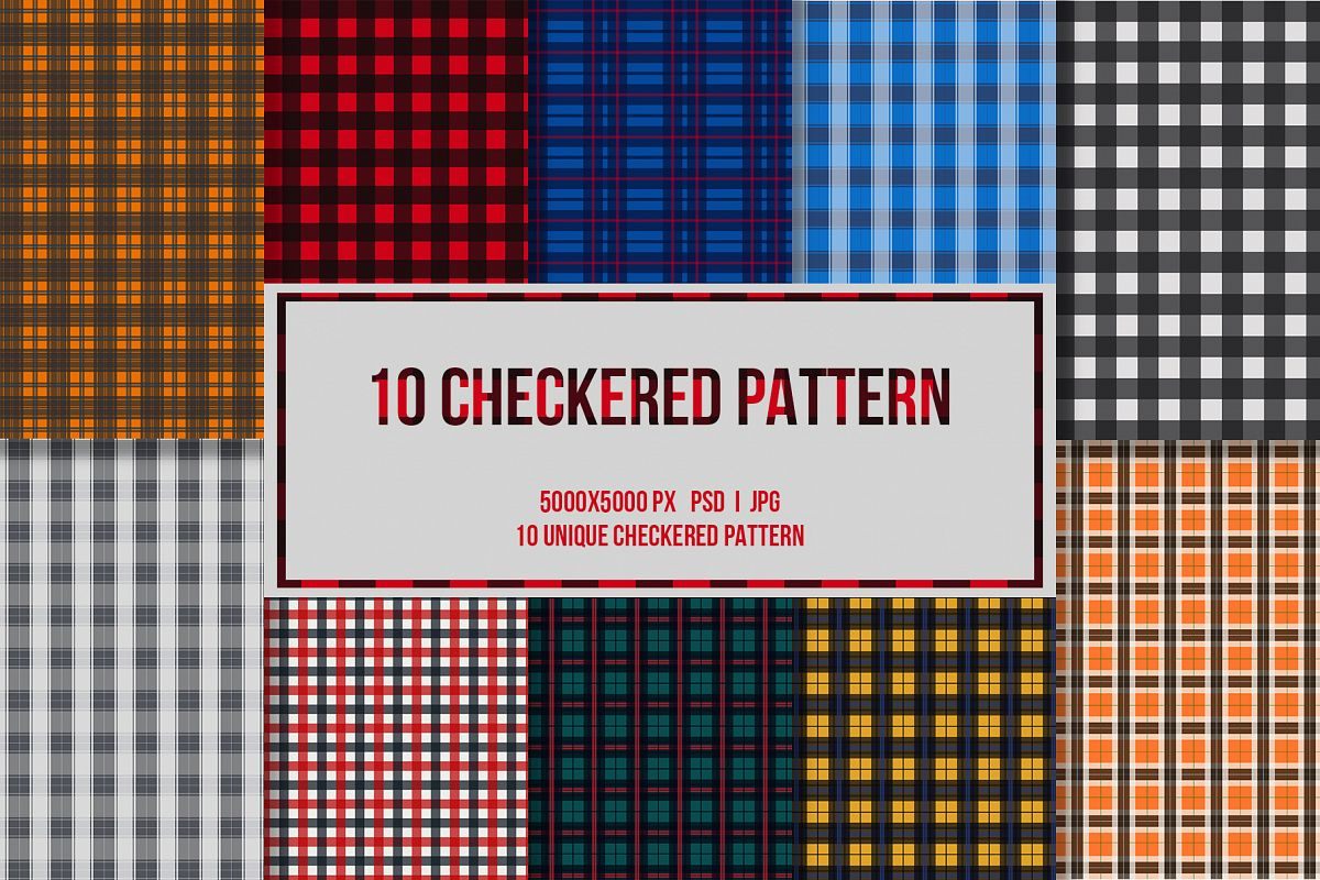 10 Checkered Patterns example image 1