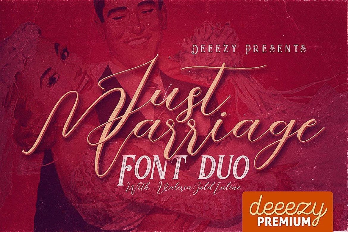 Just Marriage Font Duo example image 1