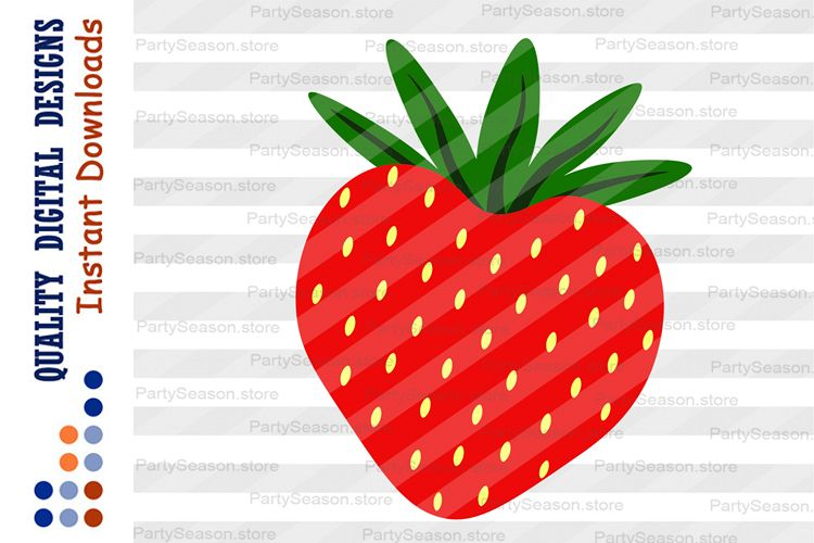 Strawberry Clipart Valentines day decor Love example image 1