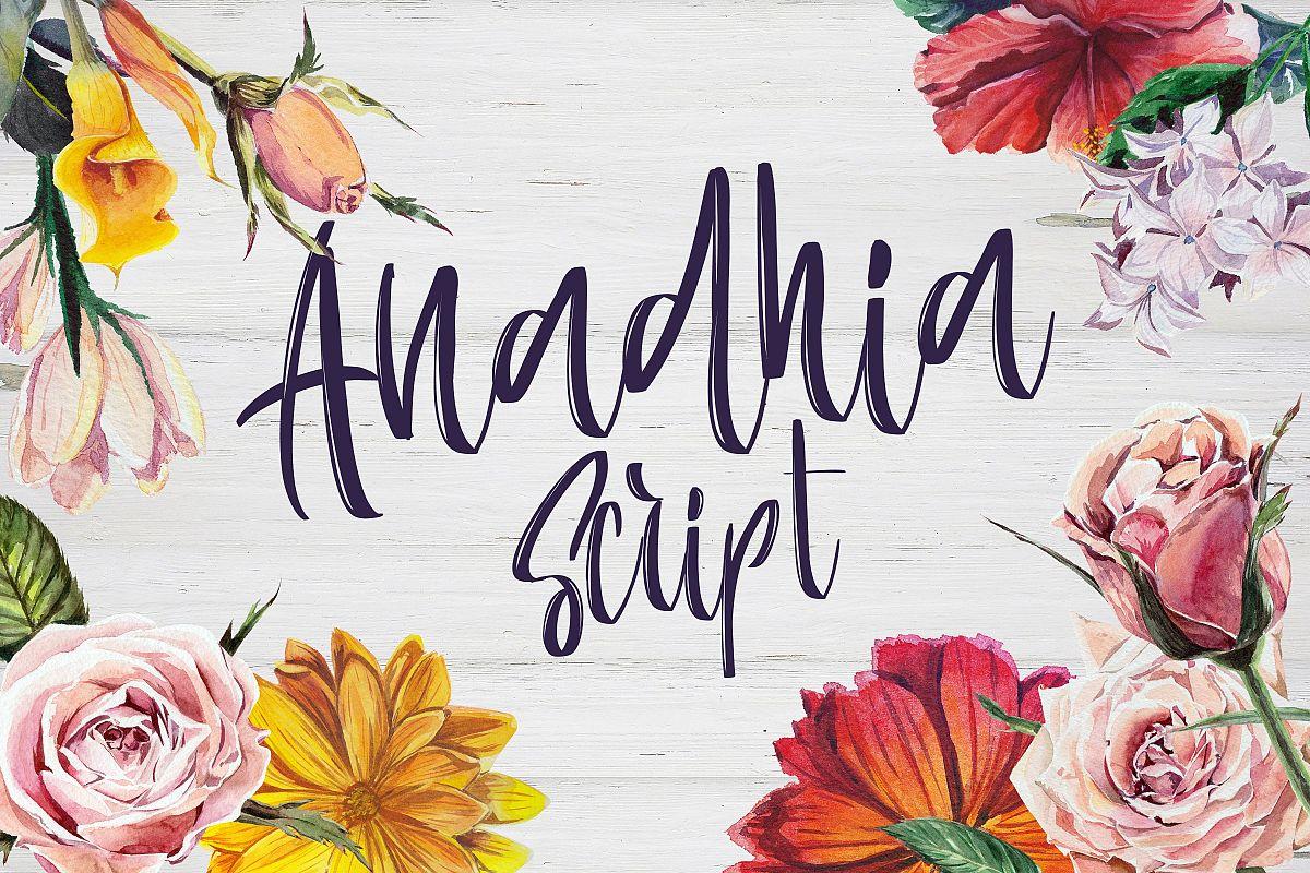 Anadhia Script example image 1
