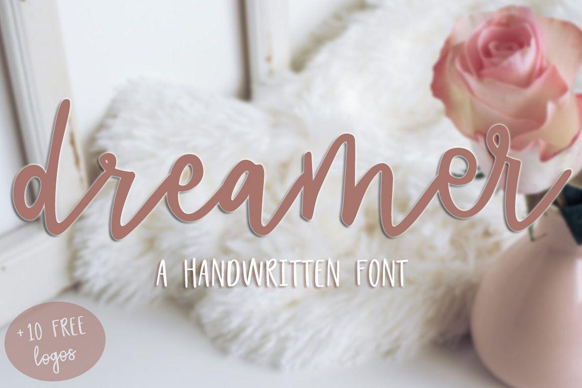 Dreamer Script 10 FREE logos example image 1