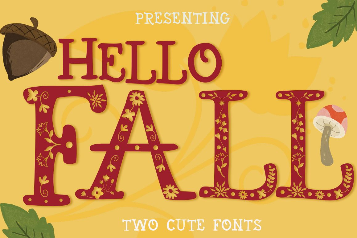 Hello Fall Font example image 1