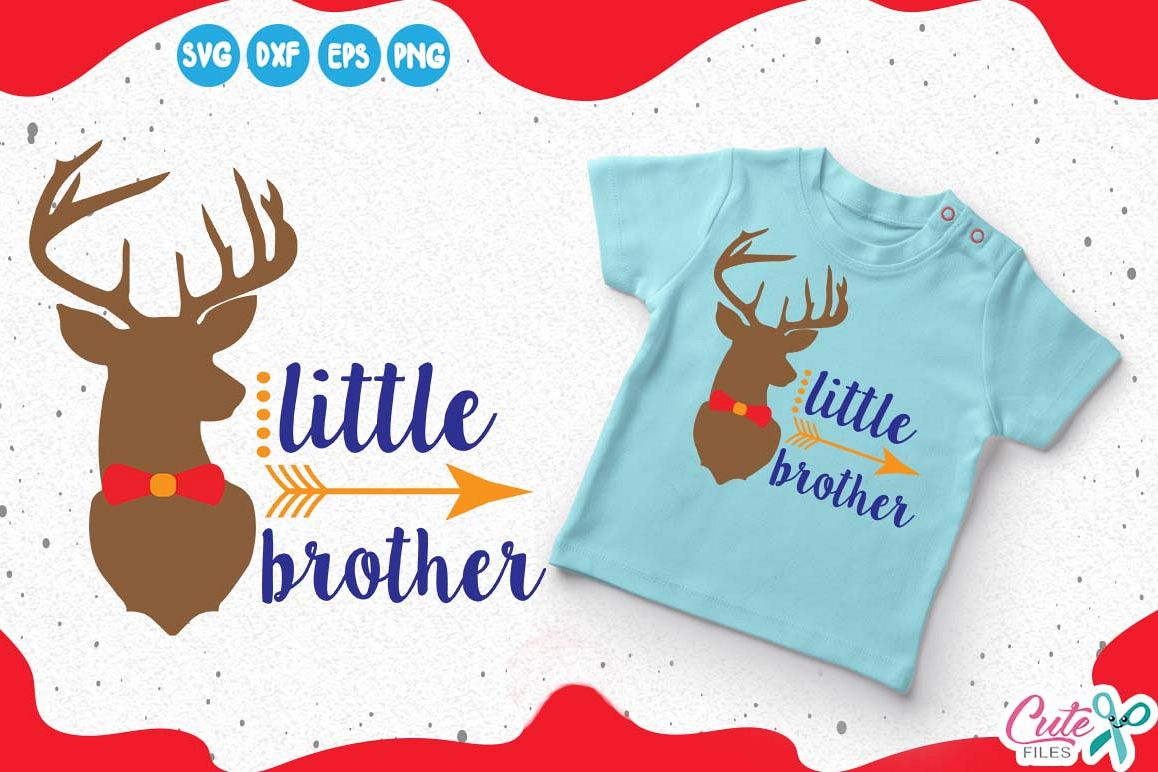 little brother reindeer silhouette merry christmas svg ho example image 1
