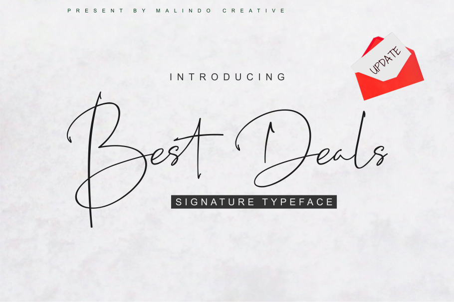 Best Deals | Signature Typeface example image 1