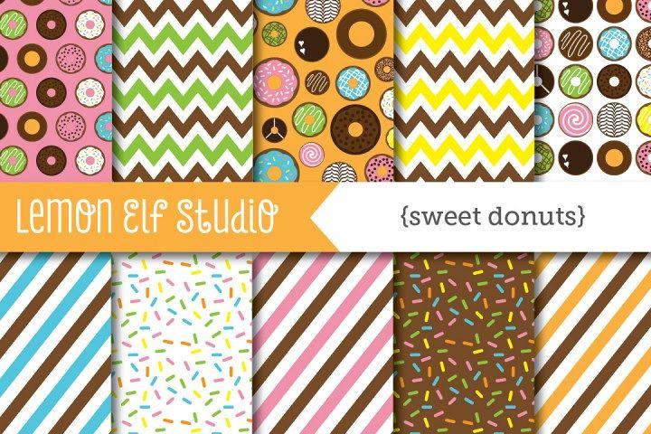 Sweet Donuts-Digital Paper (LES.DP06) example image 1