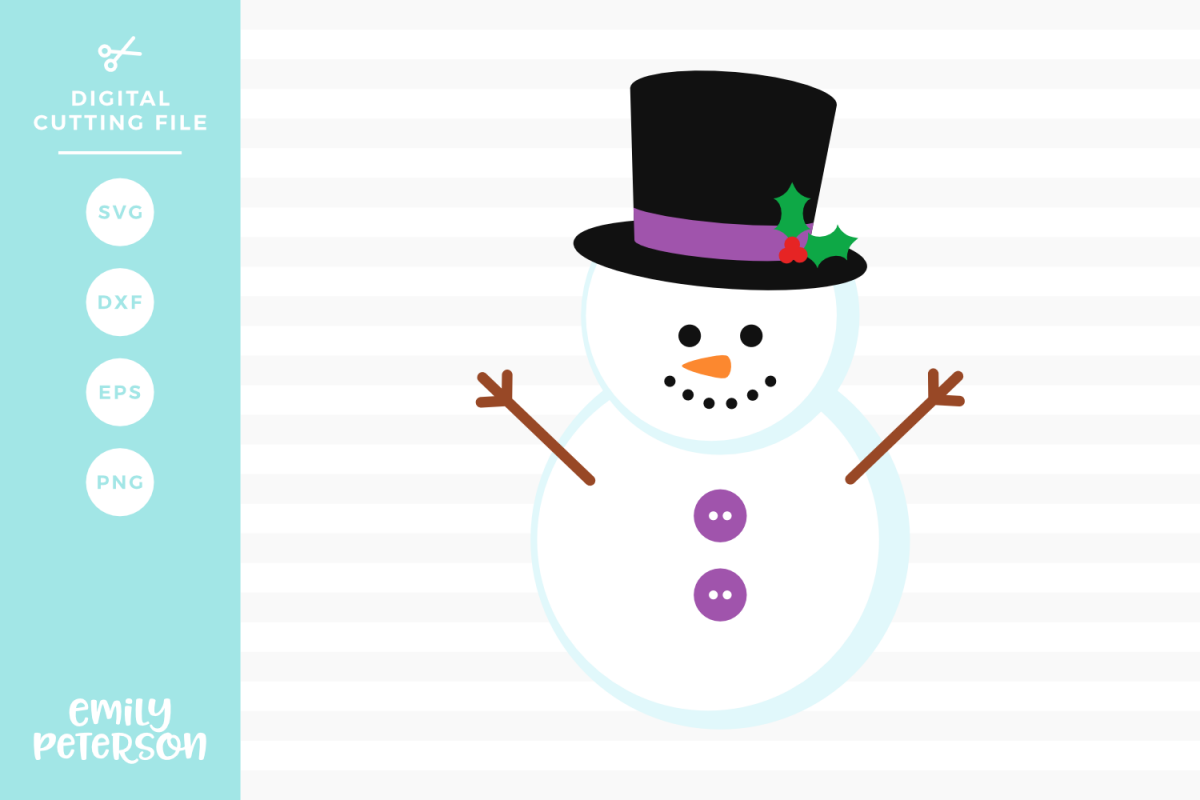 Snowman SVG DXF EPS PNG example image 1