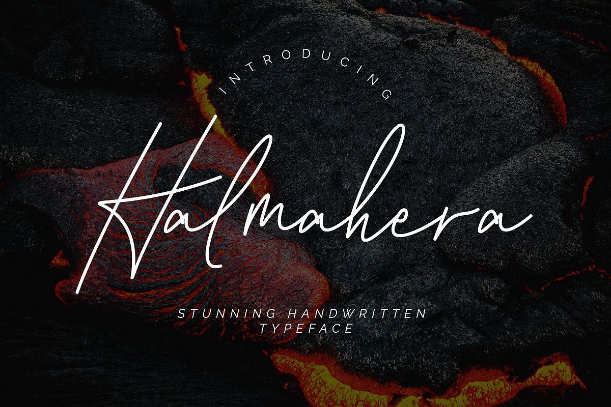 Halmahera Handwritten Script example image 1