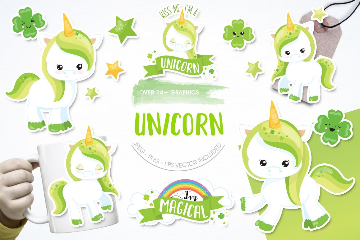 Unicorn Clover graphic and illustrations example image 1
