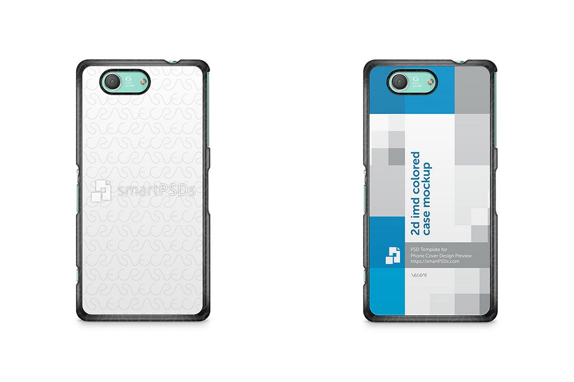 Sony  Xperia Z3 Compact 2d IMD Colored Mobile Case Design Mockup 2014 example image 1