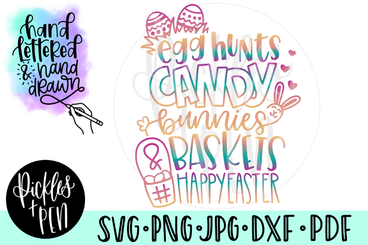 Easter SVG -Kids Easter Tshirt Design example image 1