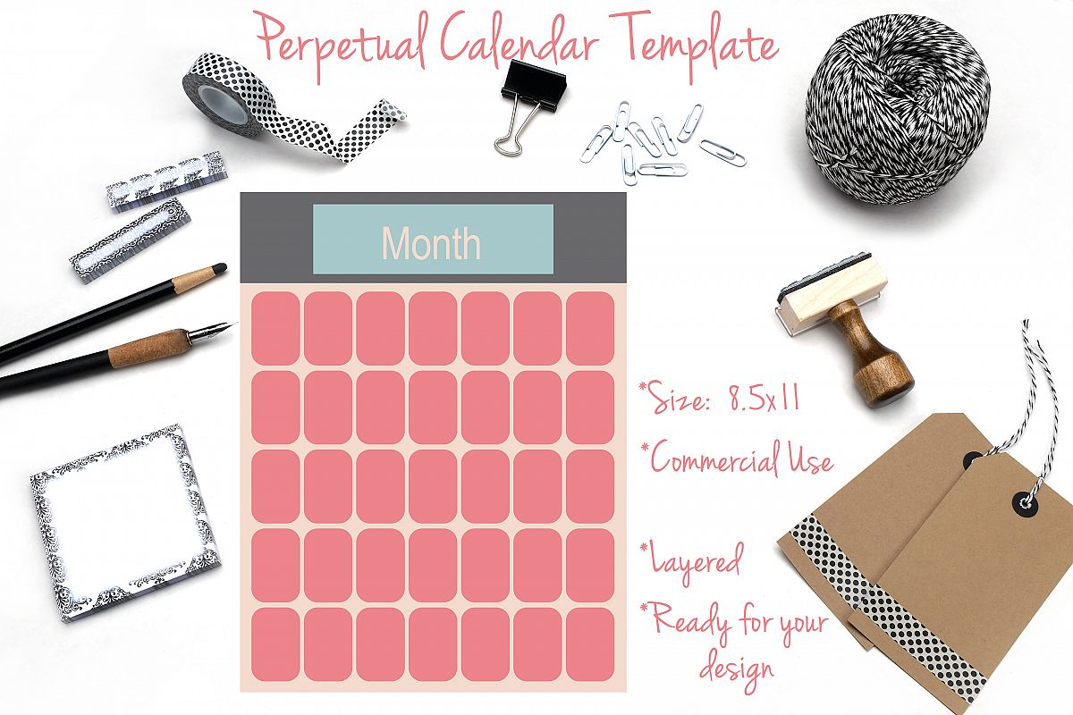 Perpetual Calendar Template example image 1