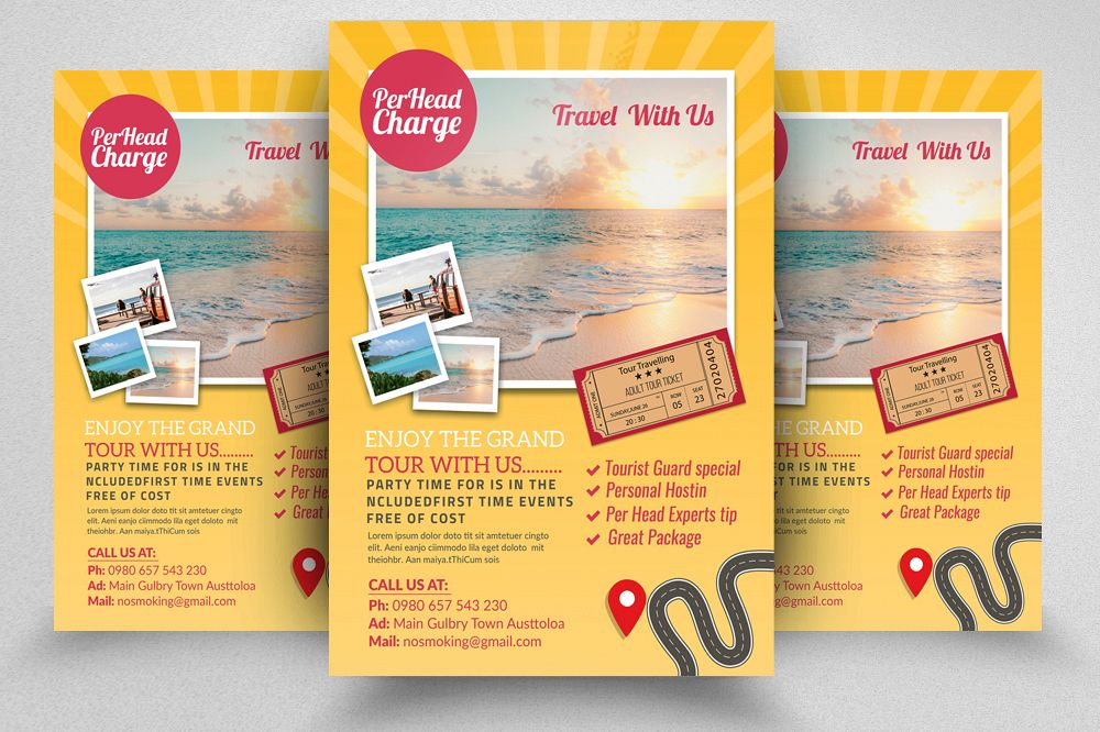 Tour & Holidays Flyer Template example image 1