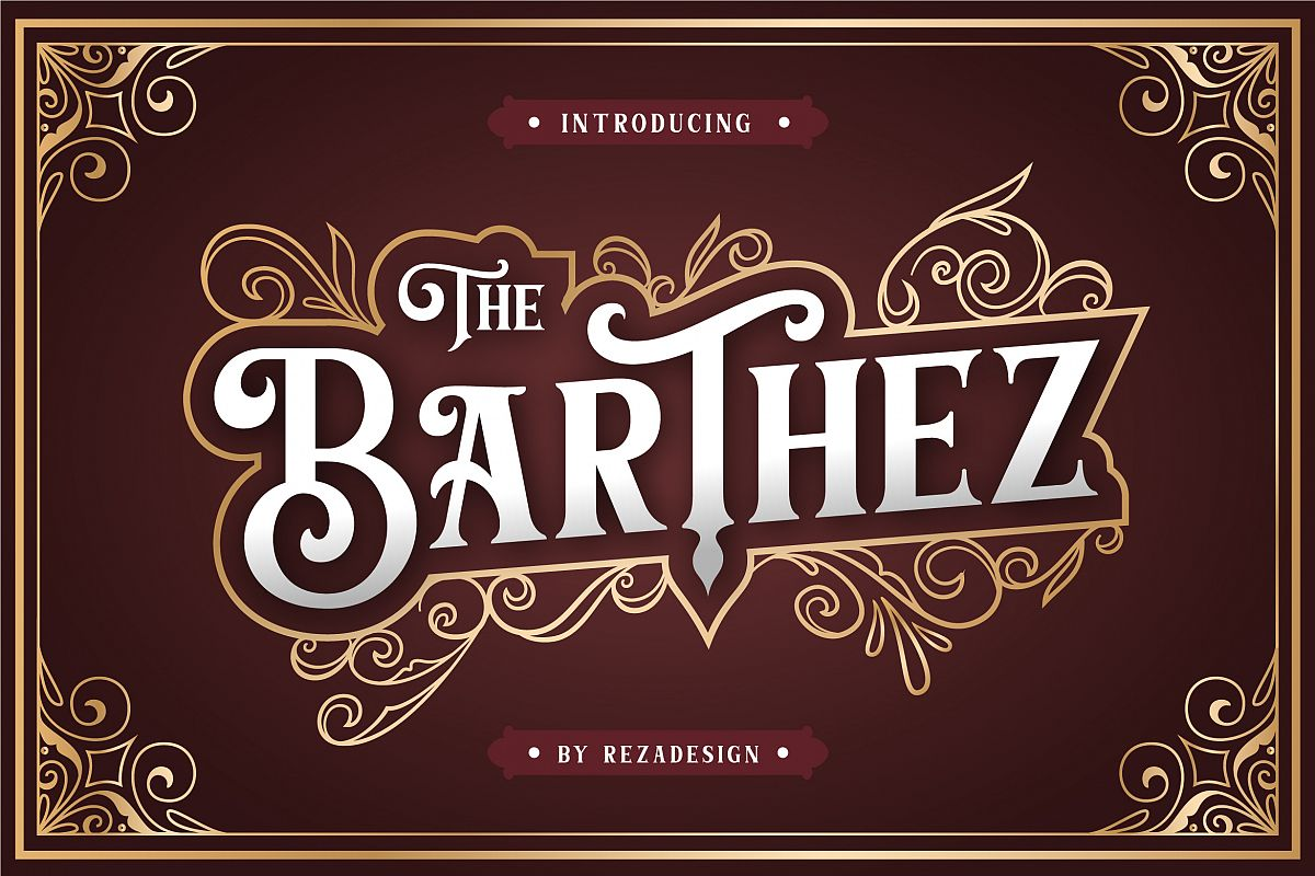 Barthez - Victorian Serif Font example image 1
