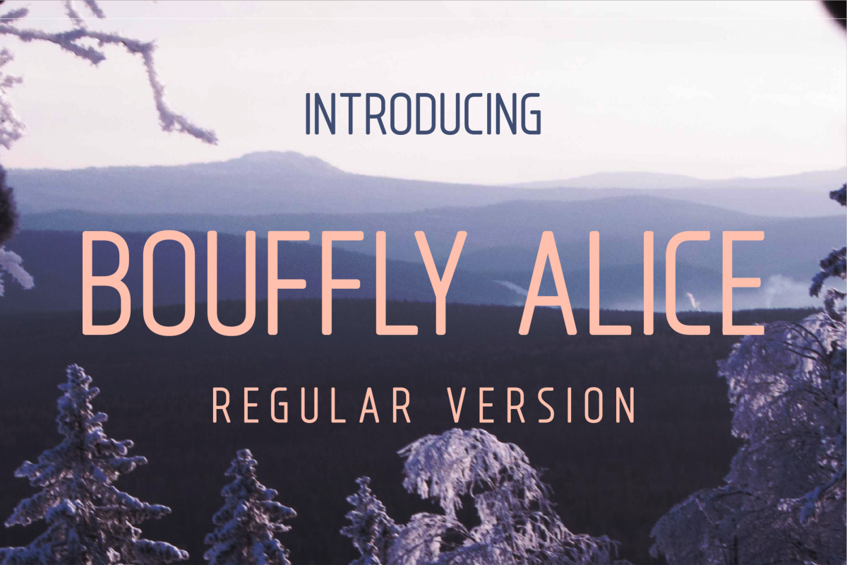 Bouffly Alice Regular Versionl Elegant font sans serif example image 1