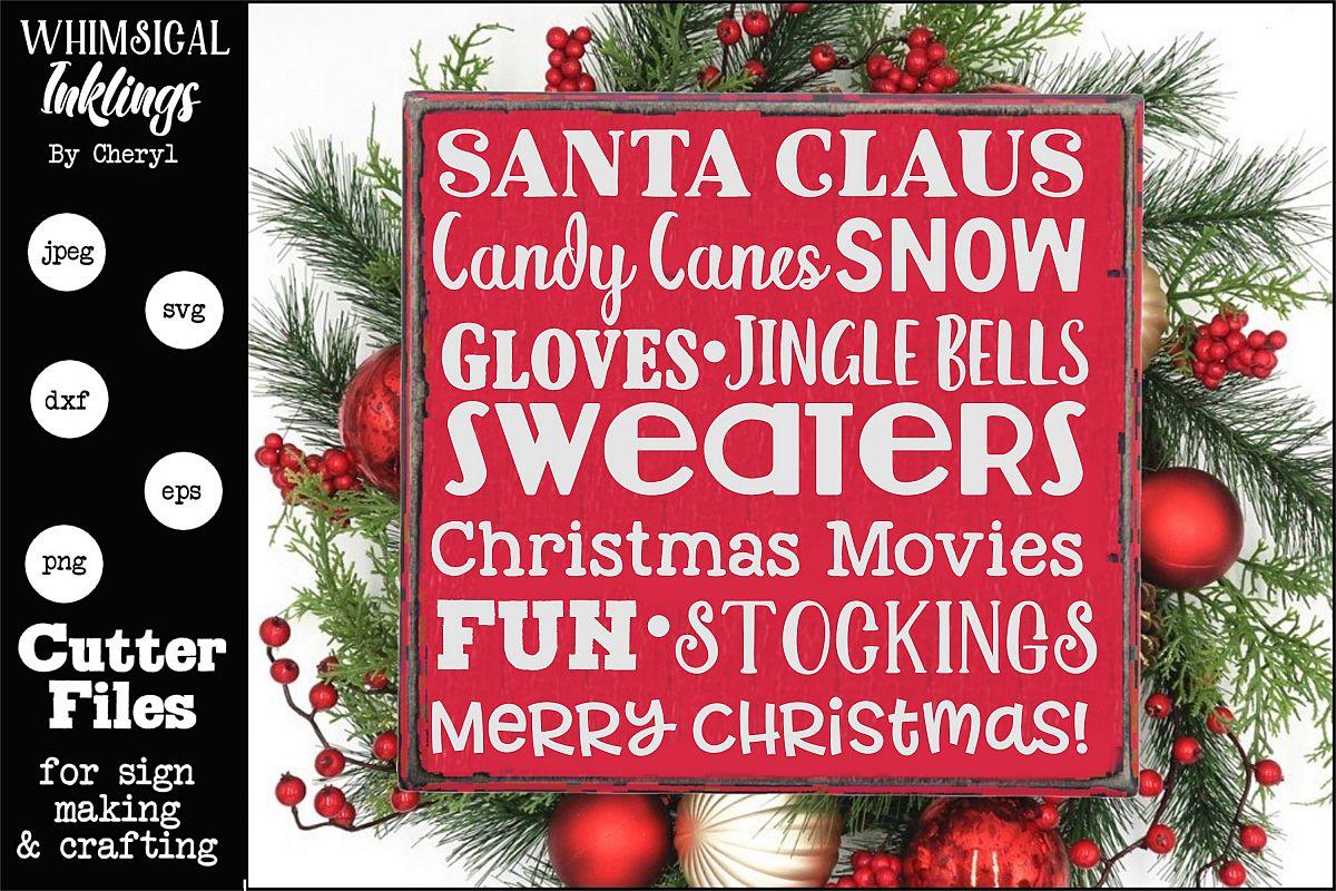 Christmas Joy Collage SVG example image 1
