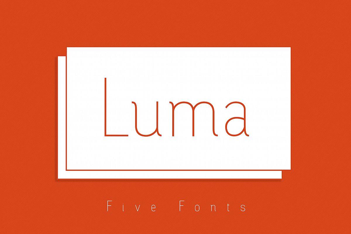 Luma - Thin Font example image 1