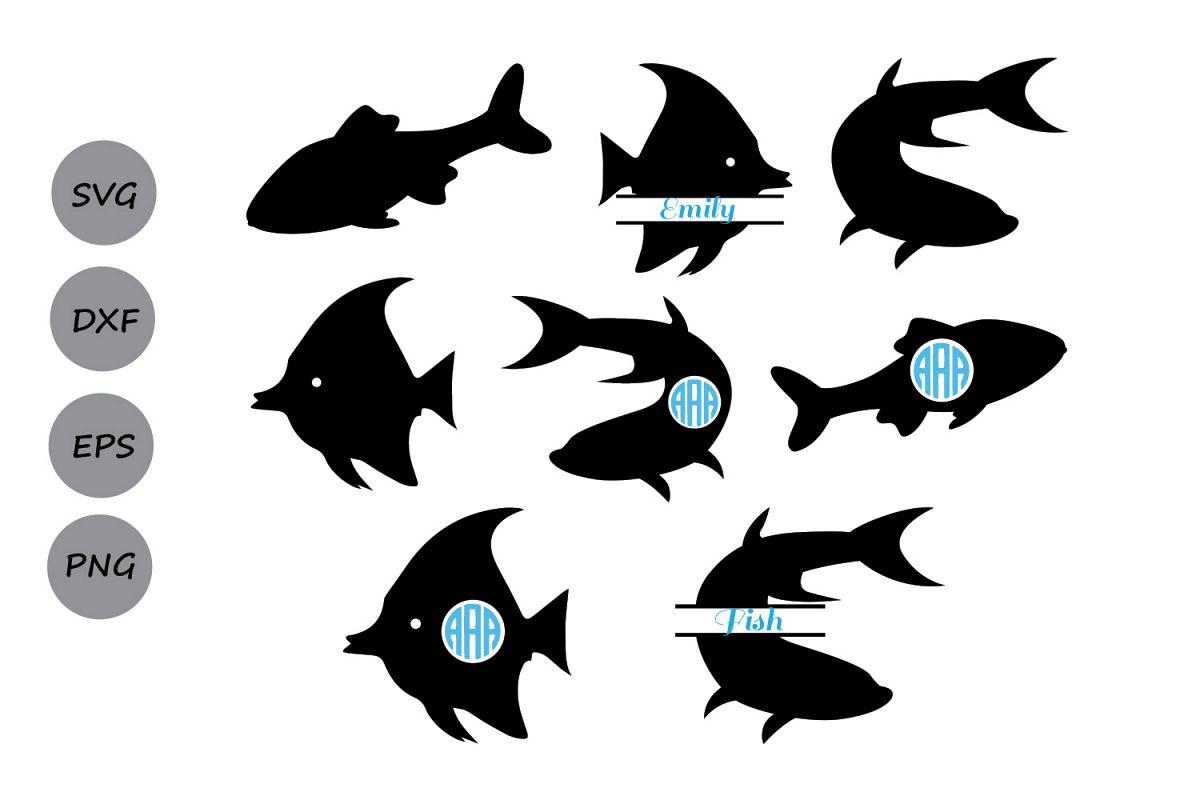 Fish Svg File Fish Monogram Svg Fish Cut File Fish Cutting File