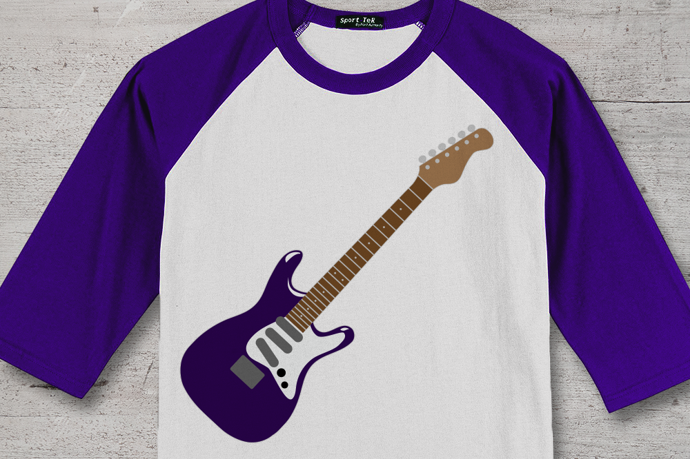 Electric Guitar SVG File Cutting Template example image 1