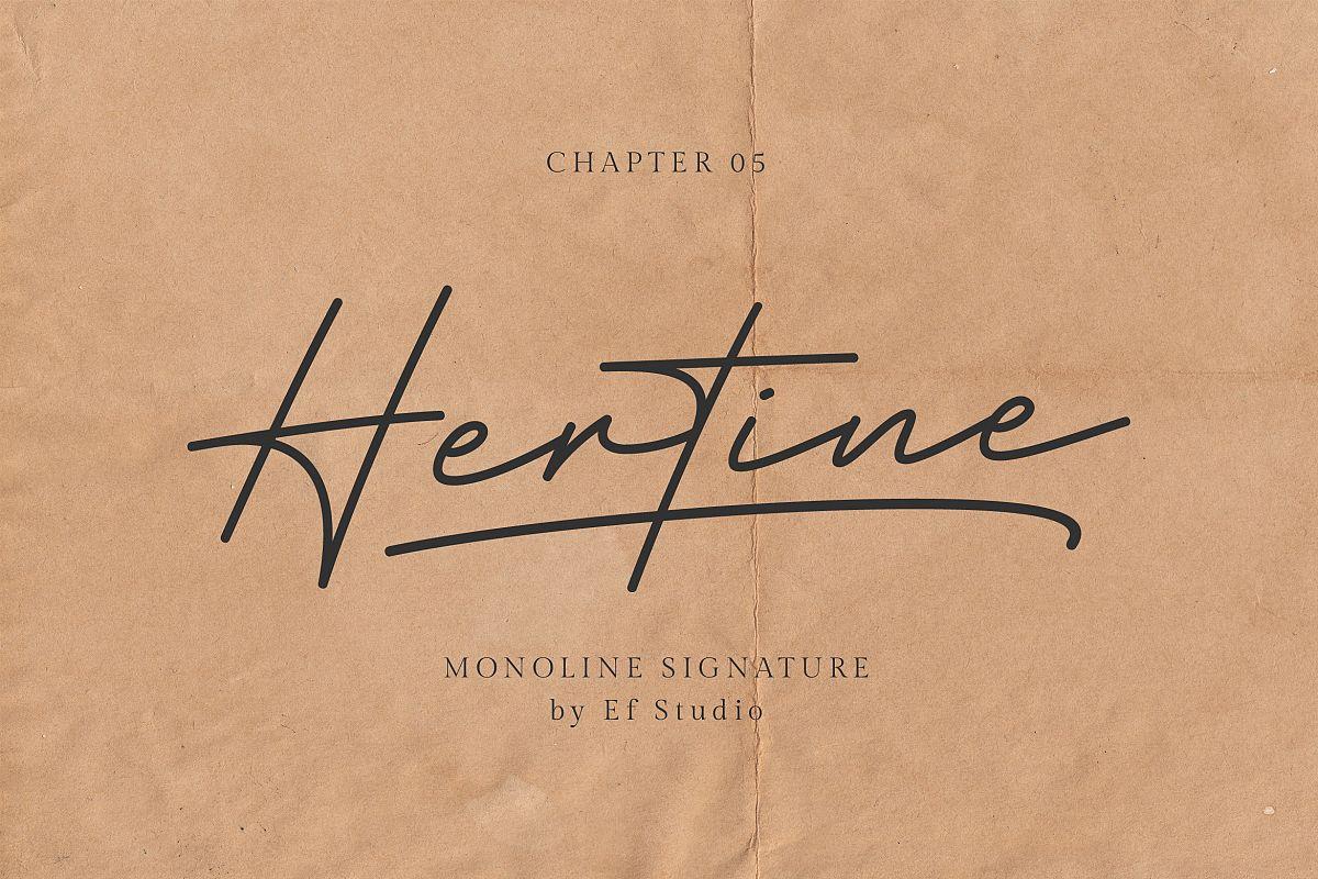 Hertine - Monoline Signature example image 1