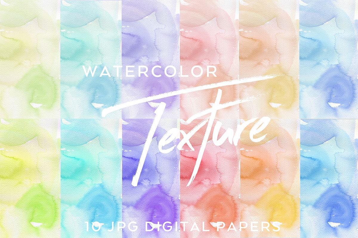10 Pastel Watercolor Textures example image 1