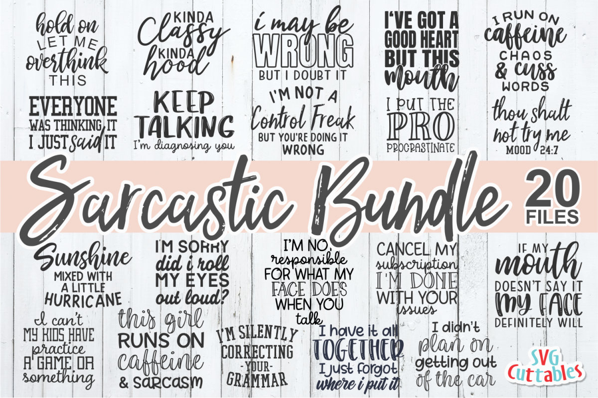 Sarcastic SVG Bundle | Funny SVG Cut Files example image 1