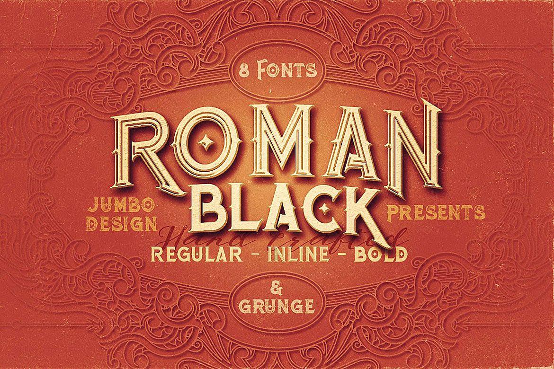Roman Black - 8 Display Fonts example image 1