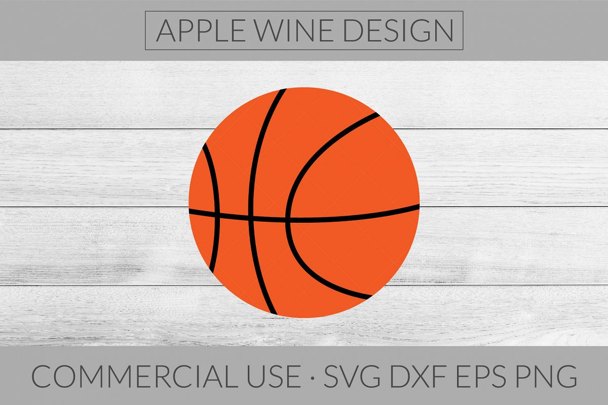 Basketball SVG DXF PNG EPS Cutting File example image 1