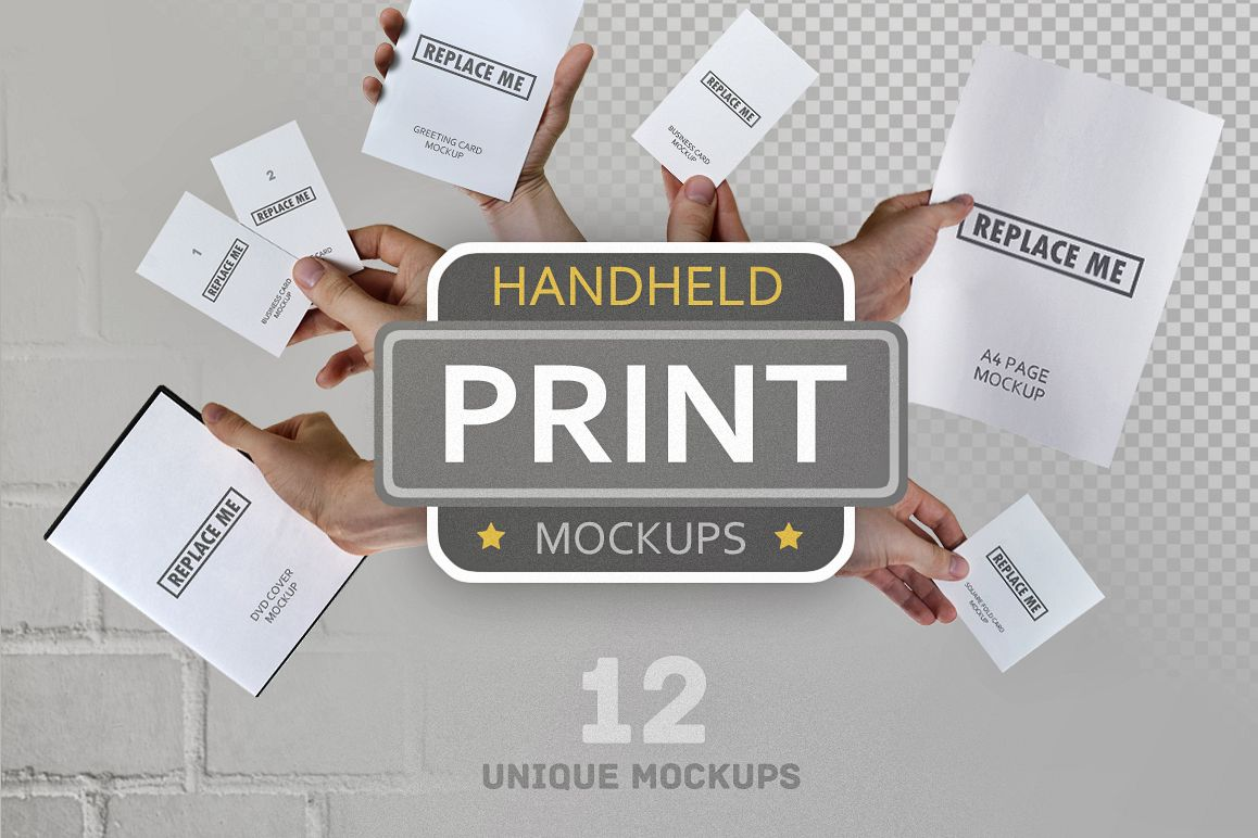 Handheld Print Mockups example image 1