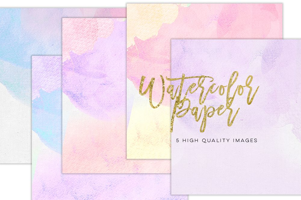 Digital scrapbook paper, Watercolor Modern prints, Invitation paper, Sticker paper Commercial use, Lilac Purple Love Valentines Day paper example image 1