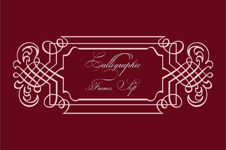 Calligraphic Frames Soft example image 1