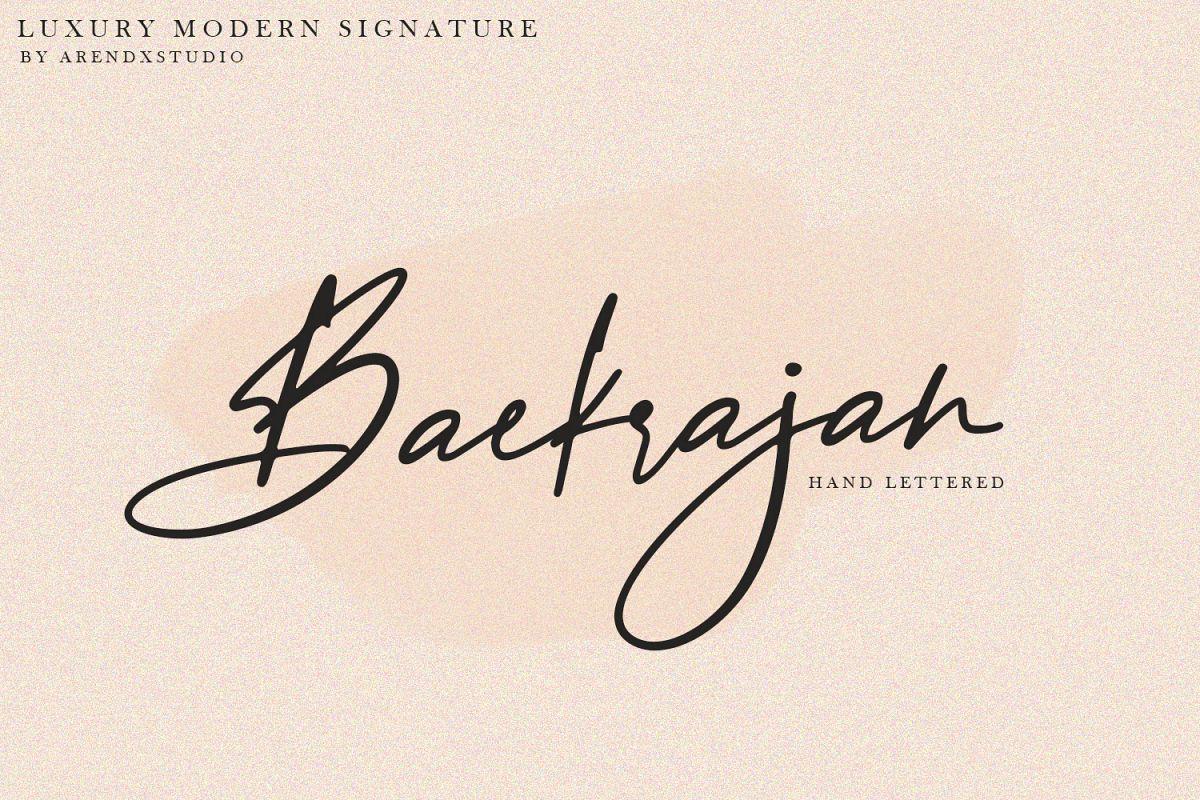 Baekrajan Luxury Modern Signature example image 1