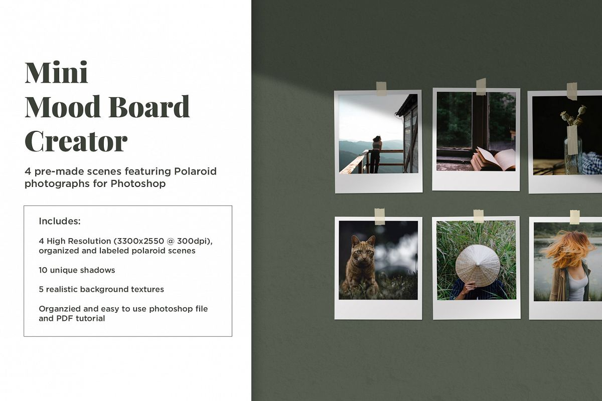 Mini Mood Board - Polaroids example image 1