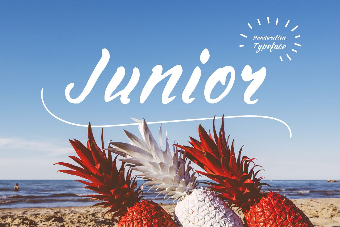 Junior—handwritten font example image 1