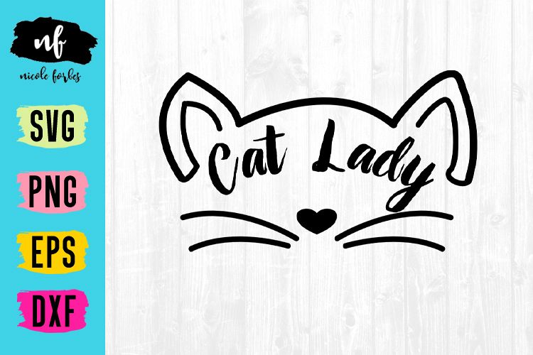 Cat Lady SVG Cut File example image 1
