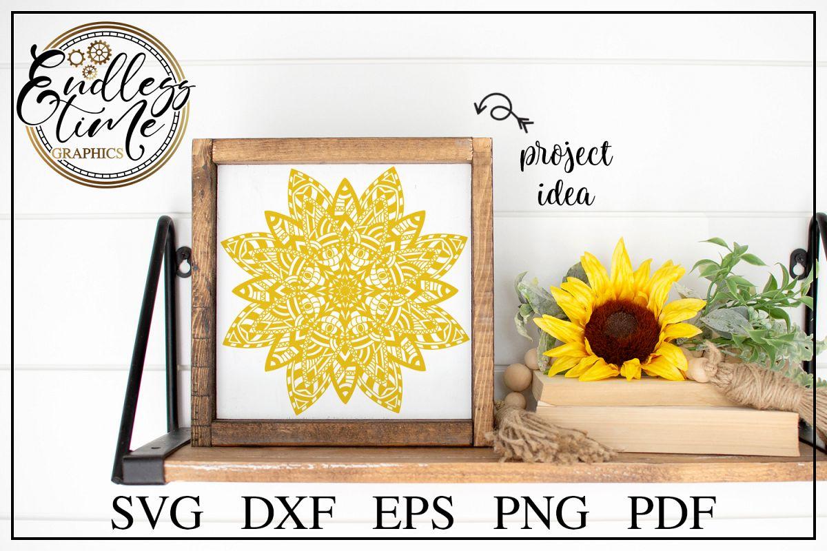 Mandala SVG Cut File - A Floral Zentangle SVG Design example image 1